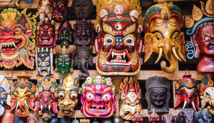 Wooden Masks in Nepal