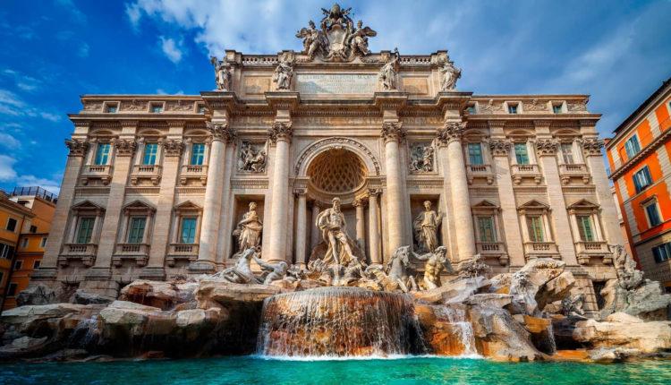 красивый фонтан в Риме